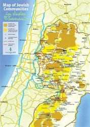 map of Peace Process in Israel