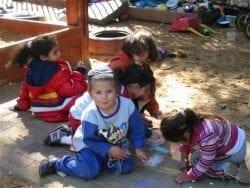 Children playing in Migdal Oz
