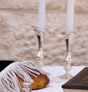 Challah and Candles for Shabbat