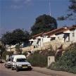 Driving through a neighborhood in Karnei Shomron
