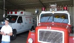 Ambulance and Fire Engine in Neve Zuf