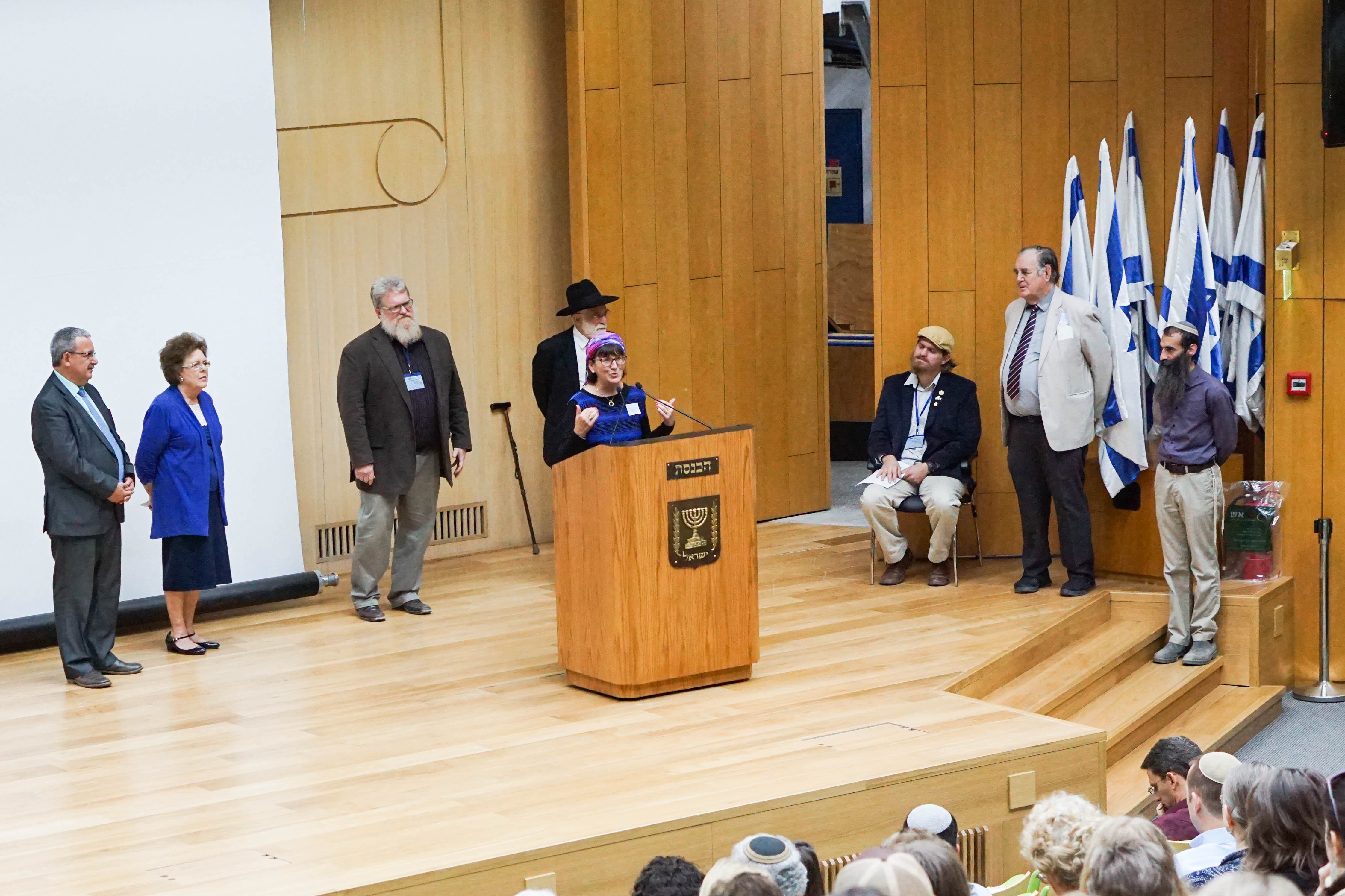 Sondra Baras speaking at the Knesset!