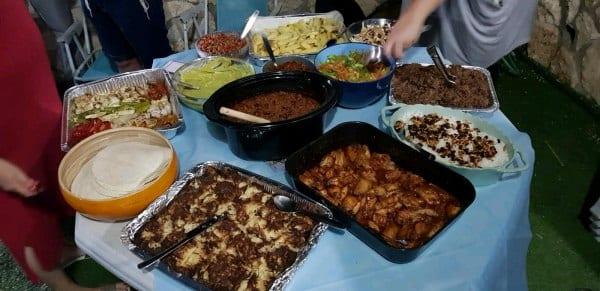 Yummy spread of kosher Mexican food