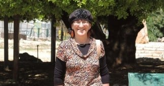 Sondra at the Lone Oak Tree in Gush Etzion