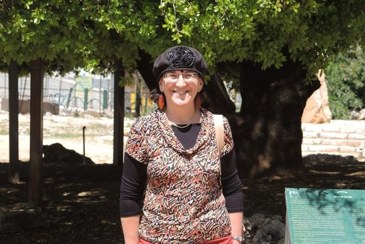 Sondra at the Lone Oak Tree in Gush Etzion