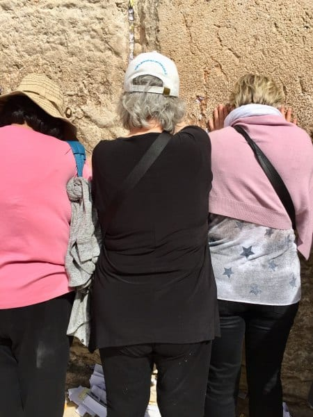CFOIC tour participants praying at the Western Wall