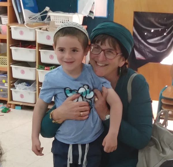 Sondra and her grandson