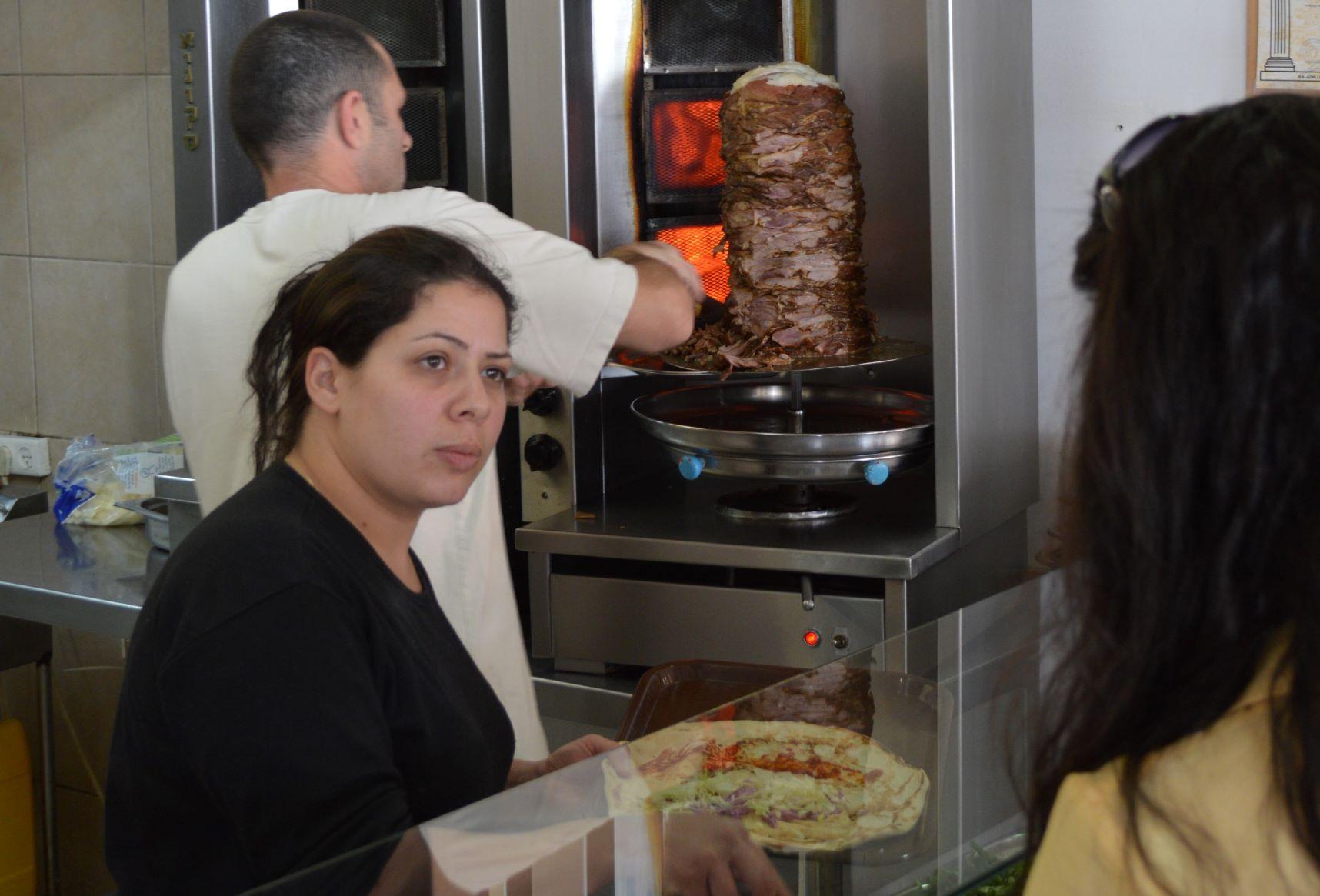 falafel stand in Israel
